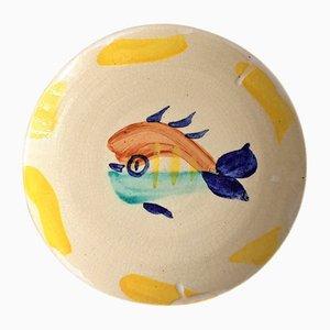 Fisch Teller von Pablo Picasso für Madoura, 1947
