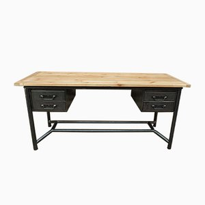 Industrial Metal & Wood Desk from Schäfer, 1950s