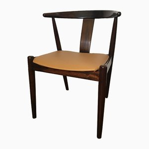 Vintage Scandinavian Rosewood & Leather Chair from Dyrlund, 1960s