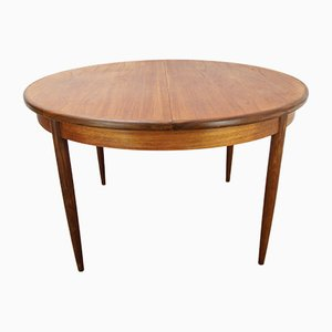 Mid-Century Extendable Oval Teak Dining Table from G-Plan, 1960s