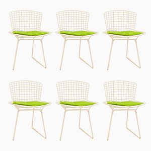 Model 420C White Side Chairs by Harry Bertoia for Knoll Inc. / Knoll International, Set of 6