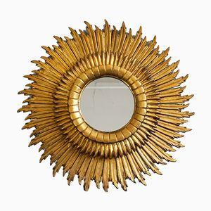 Großer 3 Ebenen Spiegel in Sonnen Optik, 1930er