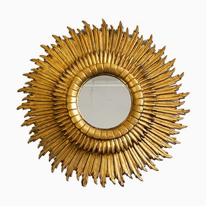 Large 3-Layered Sun-Shaped Mirror, 1930s