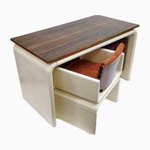 Mid-Century Macassar Ebony Desk