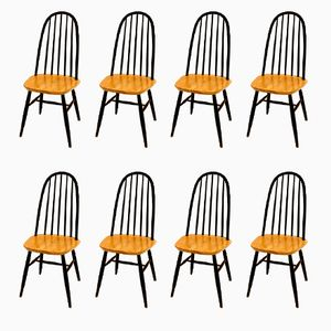 Dining Chairs by Ilmari Tapiovaara, 1960s, Set of 8