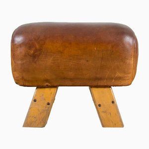 Leather Pommel Horse/Bench, 1920s