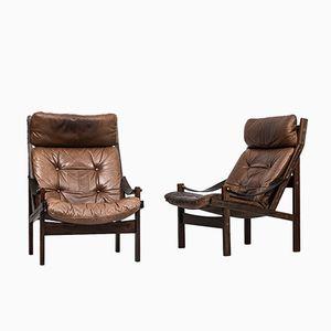 Model Hunter Lounge Chairs by Torbjørn Afdal for Bruksbo, Set of 2