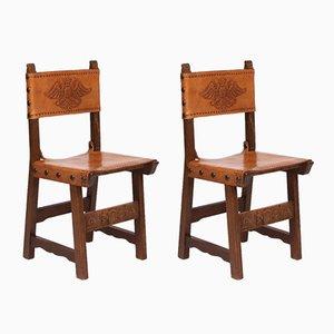Chaises pour Couloir Vintage, Espagne, Set de 2