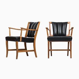 Mid-Century Easy Chairs by Josef Frank for Svenskt Tenn, 1960s, Set of 2