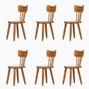 Dining Chairs by Torsten Claeson for Steneby Hemslöjd, 1939, Set of 6