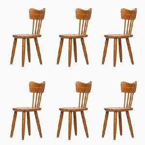 Esszimmerstühle von Torsten Claeson für Stenevon Hemslöjd, 1939, 6er Set