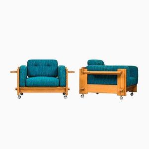 Model Kontrapunkt Easy Chairs by Yngve Ekström for Swedese Möbler, 1968, Set of 2