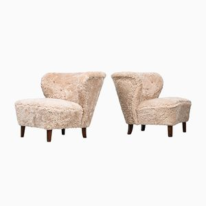 Lounge Chairs by Gösta Jonsson for Jönköping, 1940s, Set of 2