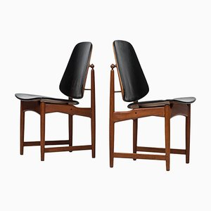 Dining Chairs by Arne Hovmand Olsen for Onsild Møbelfabrik, 1960s, Set of 8
