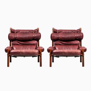 Model Inca Lounge Chairs by Arne Norell, 1960s, Set of 2