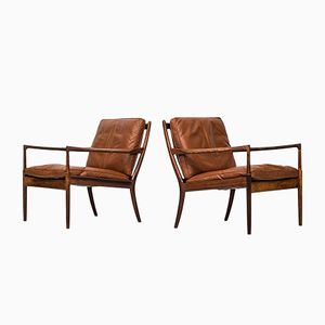 Samsö Easy Chairs in Rosewood by Ib Kofod-Larsen for OPE, 1950s, Set of 2