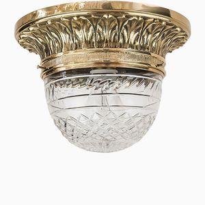 Art Nouveau Glass Ceiling Lamp, 1900s