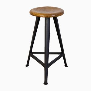 High Industrial Stool from Rowac, 1930s