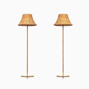 Model G-93 Floor Lamps by Hans-Agne Jakobsson, 1950s, Set of 2