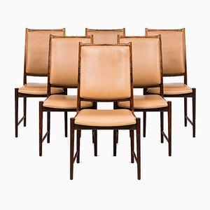 Darby High-Back Dining Chairs by Torbjørn Afdal for Nesjestranda Møbelfabrik, 1950s, Set of 6