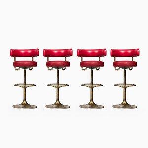Barhocker von Börje Johansson für Johansson Design, 1960er, 4er Set
