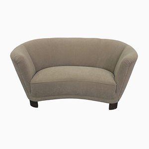 Schwedisches gebogenes Sofa, 1940er