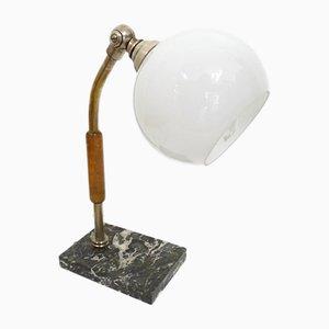 Lampe de Bureau Vintage avec Globe en Verre Opalin