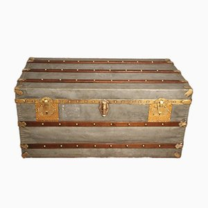 Antique French Zinc Steamer Trunk