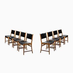 Chaises de Salon par Kai Lyngfeldt Larsen pour Søren Willadsen, 1960s, Set de 8
