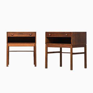 Tables de Chevet Modèle Casino par Sven Engström & Gunnar Myrstrand pour Tingströms, 1960s, Set de 2