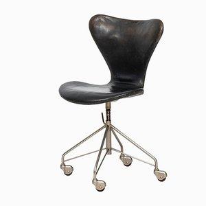 Sedia da ufficio modello 3117 di Arne Jacobsen per Fritz Hansen, anni '50