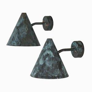 Wandlampen für Außenbereich von Hans-Agne Jakobsson für Hans-Agne Jakobsson AB, 1950er, 2er Set