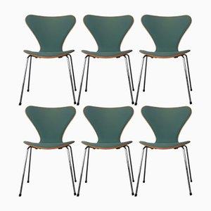 Modell 3107 Esszimmerstühle von Arne Jacobsen für Fritz Hansen, 1989, 6er Set
