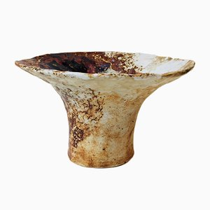 Vintage Chanterelle Vase aus Polychrom Keramik von Conny Walther, 1970er
