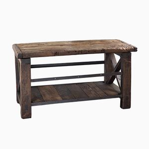 Vintage French Oak Worktable