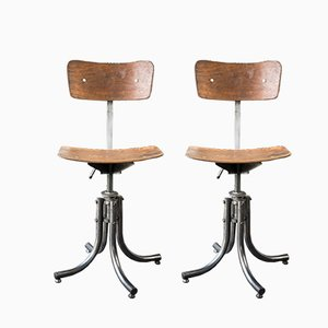 Mid-Century Swivel Chairs from Bienaise, Set of 2