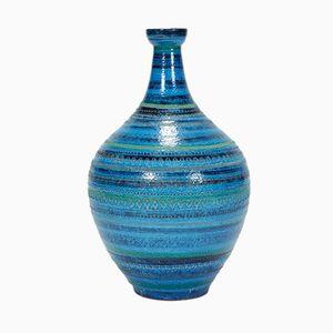 Große Rimini Blu Vase von Aldo Londi für Bitossi, 1960er