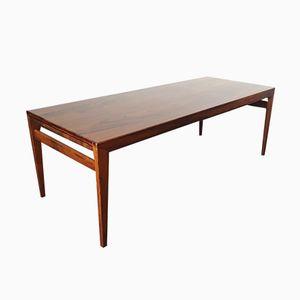 Vintage Scandinavian Rosewood Veneered Coffee Table, 1960s