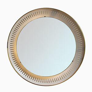 Specchio con luce di Hillebrand Lighting, anni '50
