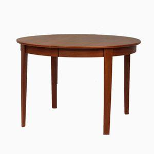 Danish Round Extendable Teak Table, 1960s