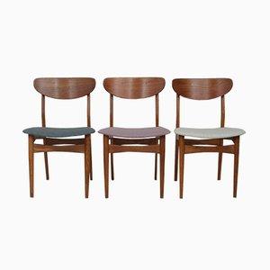 Dänische Mid-Century Beistellstühle, 3er Set
