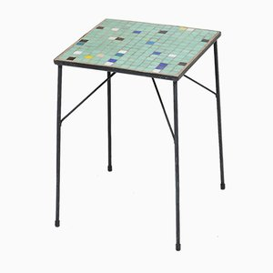Mid-Century Ceramic Tiled Side Table, 1950s