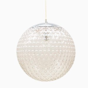 Large Glass Bubble Ball Light from Staff, 1970s