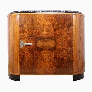 Art Deco Schrank mit Marmorplatte