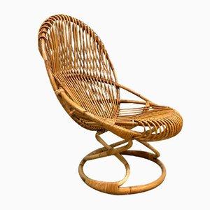 Vintage Sessel aus Korbgeflecht von Giovanni Travasa für Pierantonio Bonacina