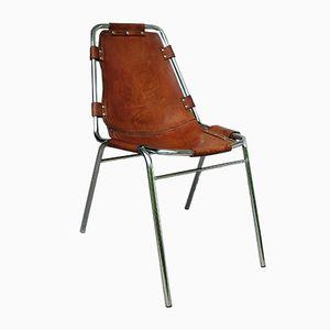 Mid-Century Les Arcs Chair aus Chrom & Leder von Charlotte Perriand
