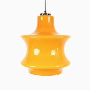 Gelbe Glas Hängelampe, 1970er