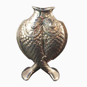 Vase Vintage en Métal Plaqué Argent de Christofle