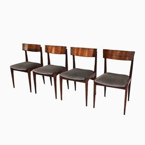 Mid-Century Esszimmerstühle aus brasilianischem Palisander, 4er Set