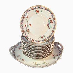 Service pour Gateaux Vintage en Porcelaine par Théodore Haviland